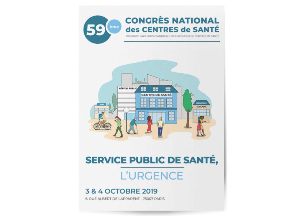 infographie affiche programme congrès des centres de santé
