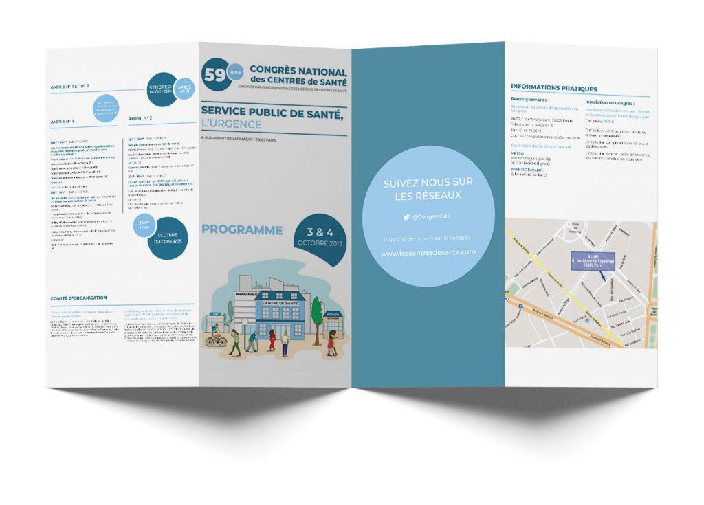 infographie dépliant programme congrès des centres de santé