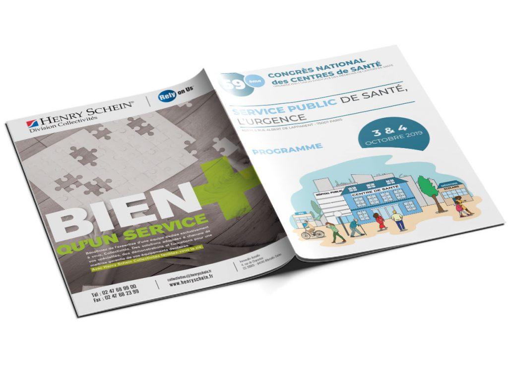 infographie programme congrès des centres de santé couverture 1 et 4