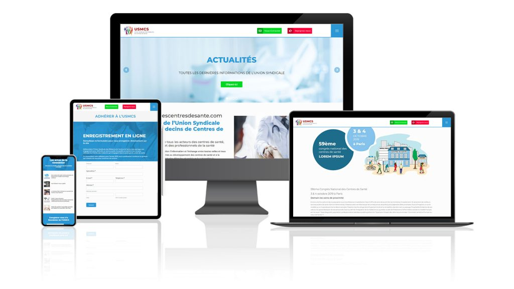 infographie site web usmcs tous format d'écran