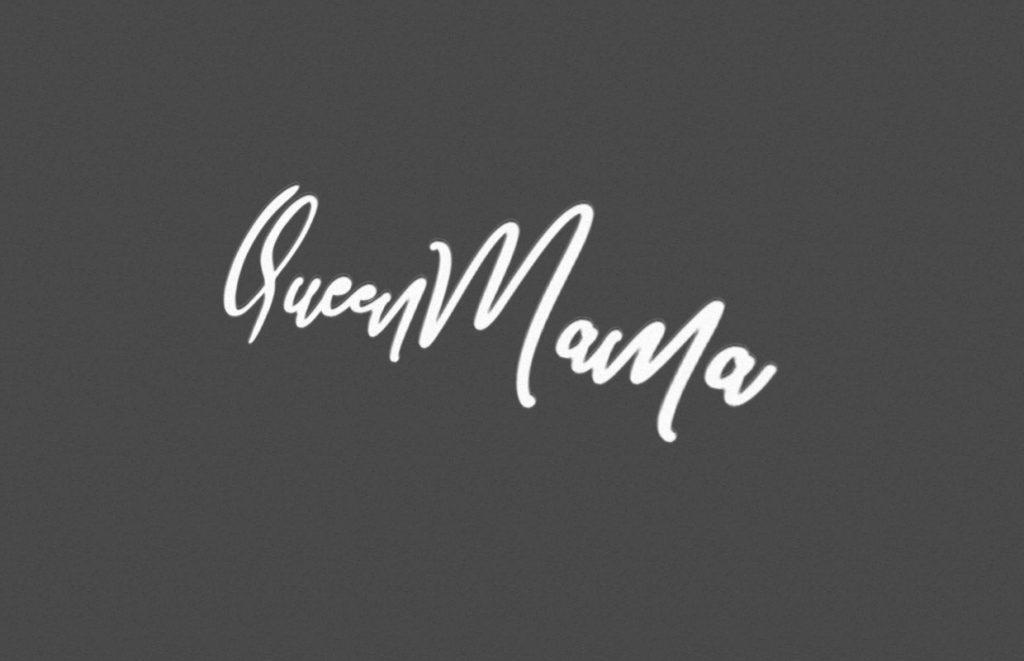 infographie logo queenmama noir et blanc