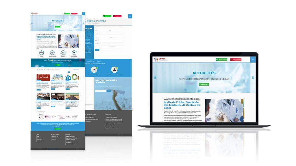 infographie site web usmcs format laptop et capture écran