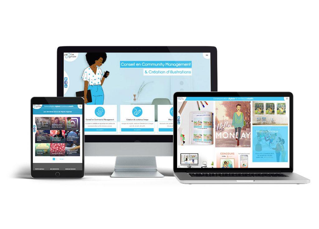 infographie site web pépite digitale format écran large